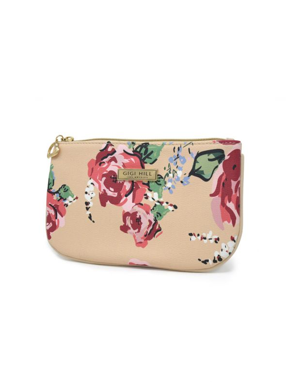 Small Scarlett Antique Floral Multi-Functional Pouch