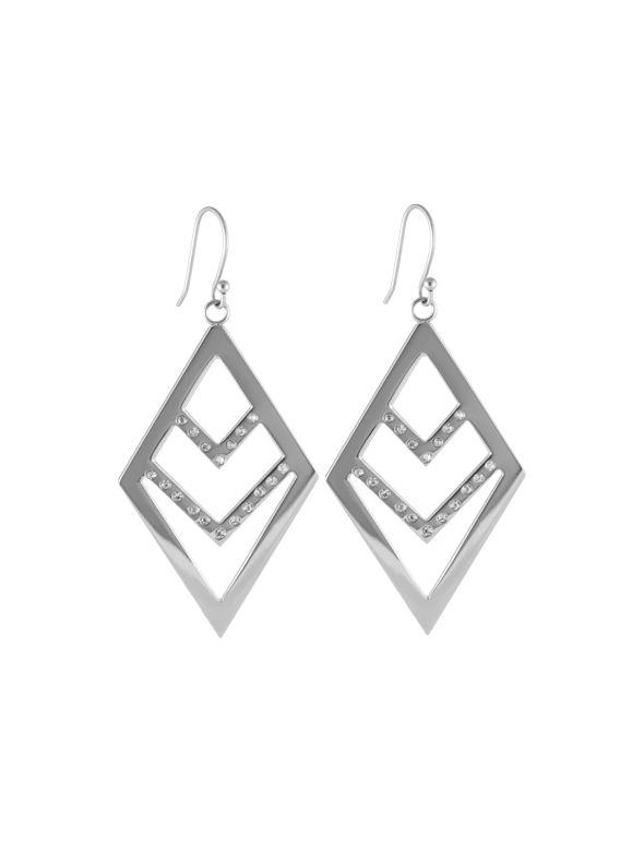 Silver Chevron Earrings